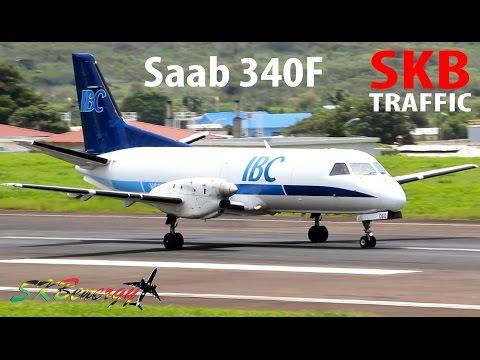 IBC Airways Saab 340F departing St. Kitts for Miami Int'l Airport (Long Flight) !!!!
