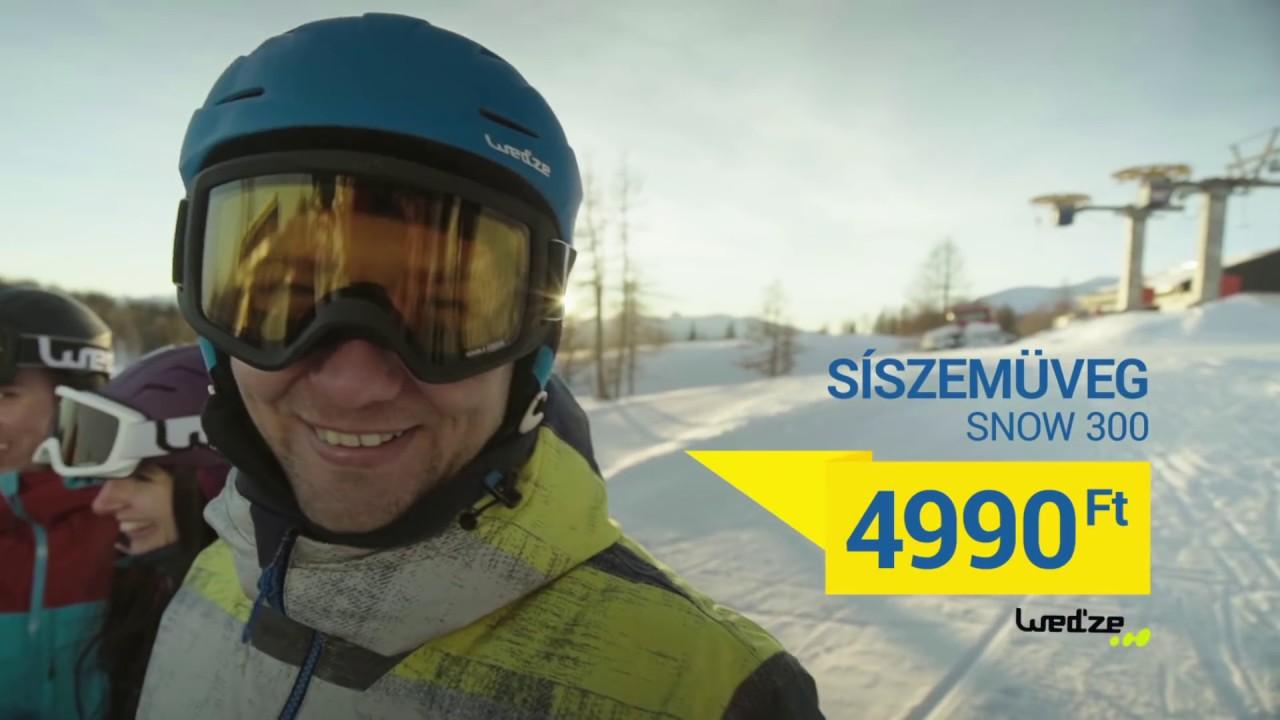 99dd75162575 Decathlon Wed ze Snow 300 síszemüveg 4990 Ft-ért - YouTube