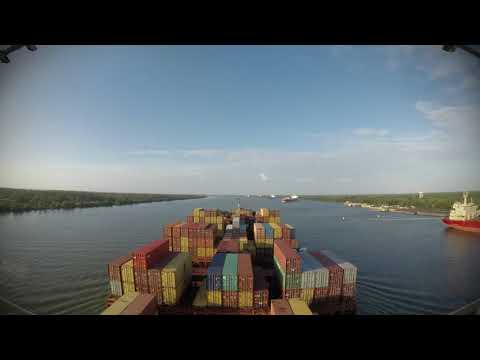 Time-lapse - down the Mississippi from New Orleans to Gulf of Mexico [4K]