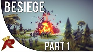 "Besiege Gameplay - Part 1: ""MORE CANNONS"" (w/ Facecam)"