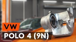 Kako zamenjati Okvir kolutne zavore VW POLO (9N_) - priročnik