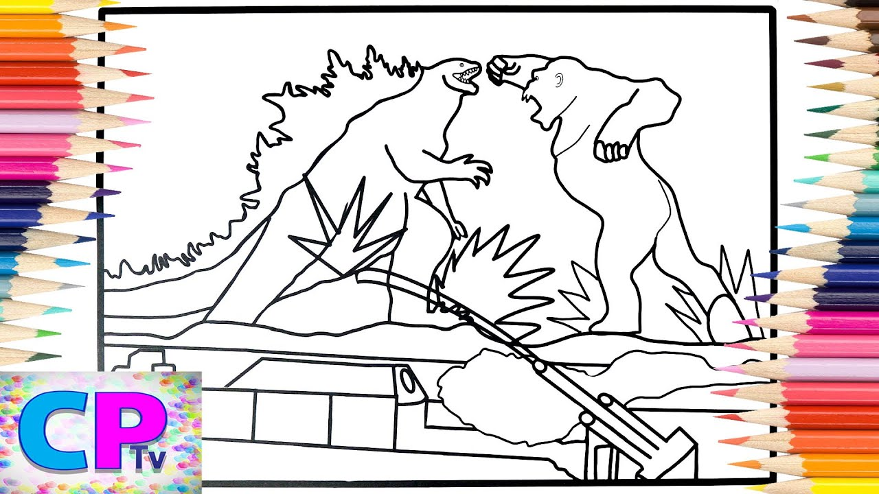 Godzilla Vs Kong Coloring Pages Monsters Coloring Elektronomia Energy Ncs Release Youtube