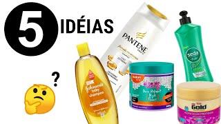 5 IDÉIAS com Embalagem de Shampoo e Creme 💖