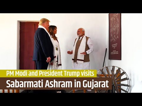PM Modi and President Trump visits Sabarmati Ashram in Ahmedabad, Gujarat | PMO