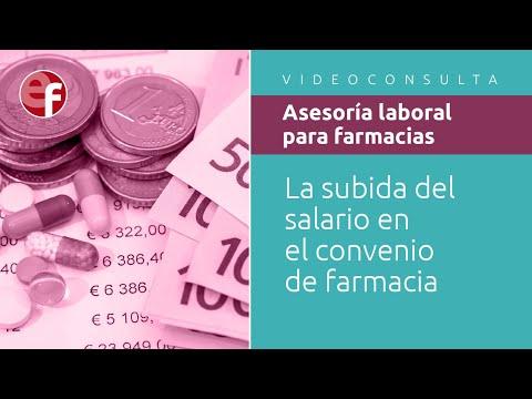 La subida del salario en el convenio de farmacia