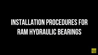 Installation Procedures For Ram Hydraulic Bearings Tutorial How-To Throw-Out Clutch