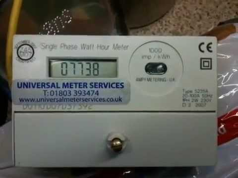 My First Electricity Meter Ampy 5235a Youtube