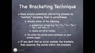 GMAT Verbal - Sentence Correction - The Bracketing Technique