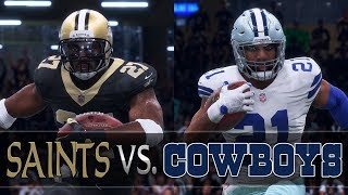 New Orleans Saints Franchise vs. Cowboys [Divisional Round, S3] (Madden 18 Gameplay) 2017 Video