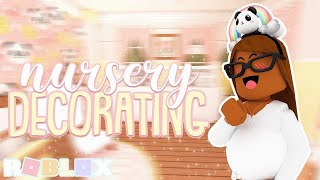 DECORATING THE NURSERY! *Panda Theme* Roblox Bloxburg Roleplay