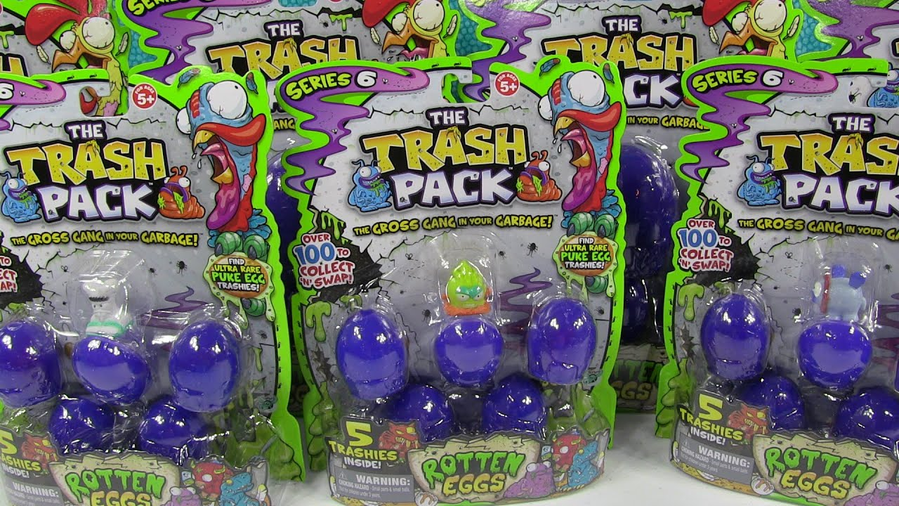 Rotten Eggs Trash Pack Series 6 Big Opening Unboxing Toy