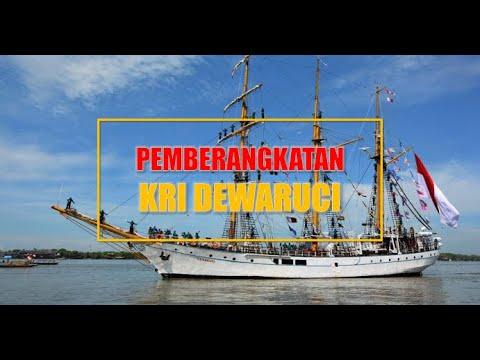 Pemberangkatan KRI Dewaruci dari Pelabuhan Cirebon
