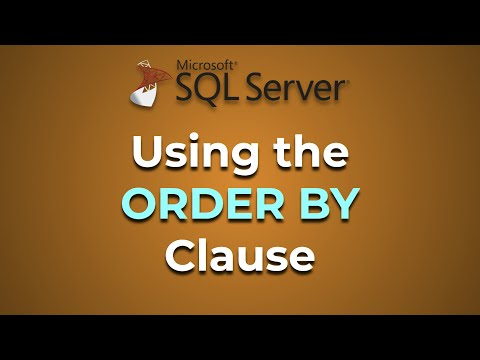Advanced Databases - The ORDER BY Clause (SQL Server)