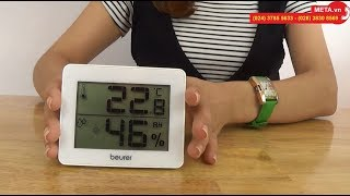 Nhiệt ẩm kế Beurer HM16 cho kết quả đo nhiệt độ và độ ẩm chính xác