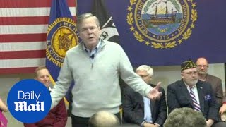 Jeb Bush calls Trump 'a jerk' at December campaign event - Daily Mail