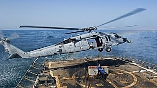 MH-60 Seahawk Romeo Helicopter Take-off   Landing & Flyby compilation