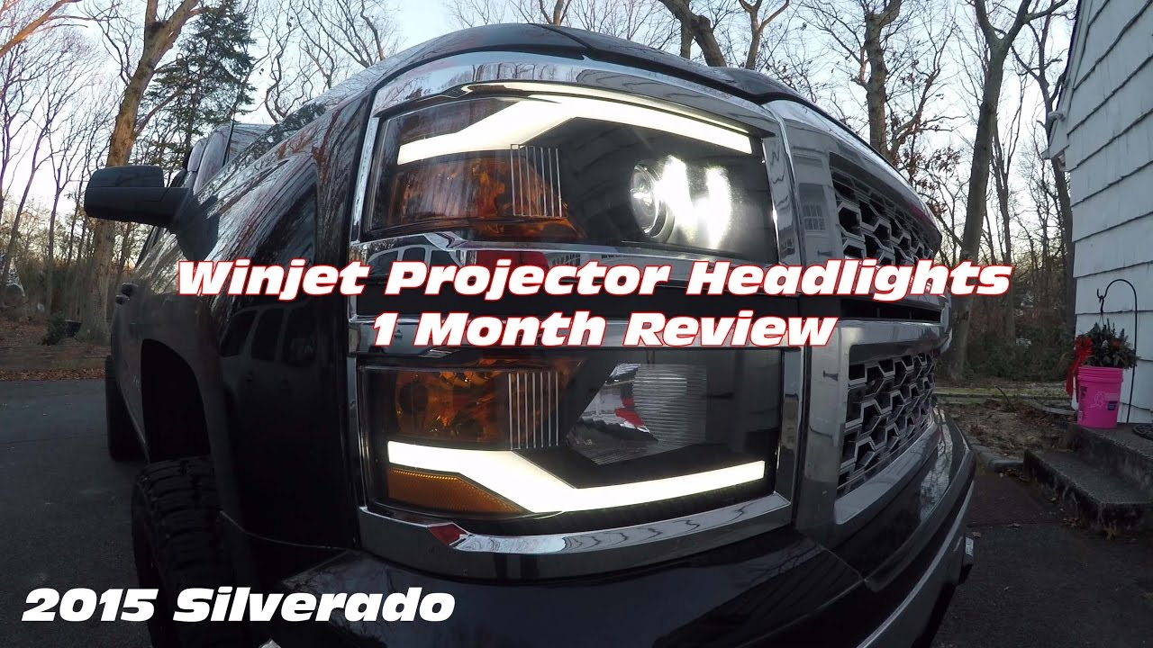 Winjet DRL Projector Headlights on 2015 Silverado | Review ...