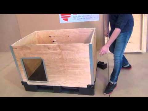 Caseta para perro de madera for Como hacer una caseta de jardin barata
