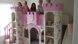 Girls Princess Castle Bed | Disney Princess Room Decor | Custom Castle Bed | Girls Bedroom Furniture