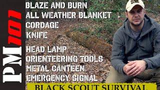 B.A.C.K. H.O.M.E. KIT w/ Black Scout Survival  - Preparedmind101