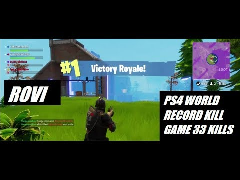Fortnite Battle Royale Ps4 World Record Kill Game 33 Solo Kills In