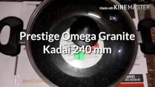 Prestige Omega Deluxe Granite Nonstick Kadhai 240mm Unboxing