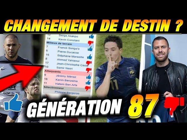 GENERATION 87 (Benzema, Nasri, Ben arfa ) Changement de destin ? Football manager