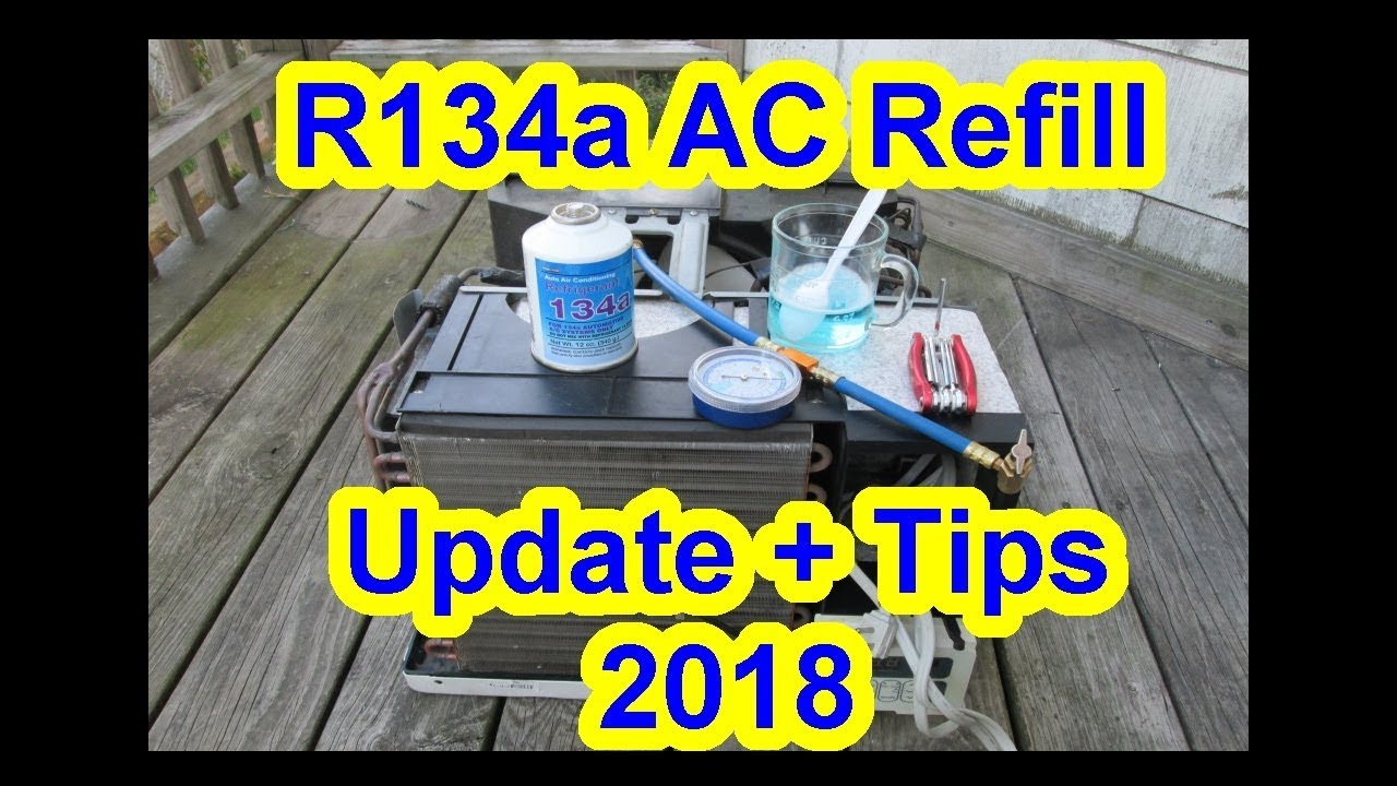 2018 Update Tips - Refill Window House AC Portable Air Conditioner with  R134a + Gauge Adapter