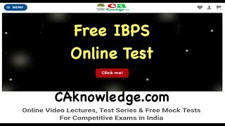 IBPS Online Test, IBPS Mock Test in Hindi and English Language