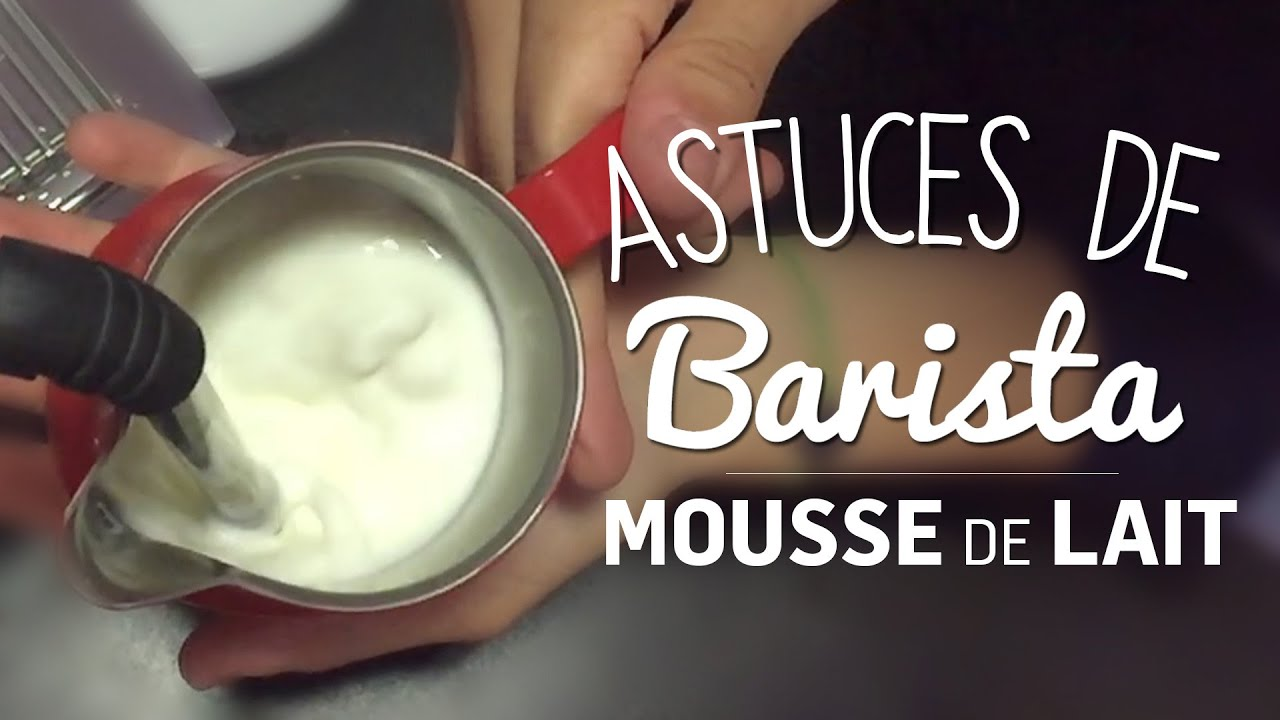 monter sa mousse de lait les astuces de barista youtube. Black Bedroom Furniture Sets. Home Design Ideas