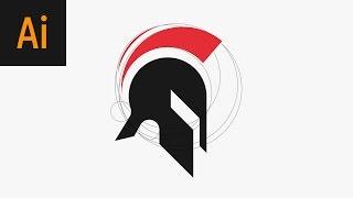 Spartan Logo Design Illustrator Tutorial