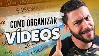 Como ORGANIZO MEUS VIDEOS | Meus equipamentos #11