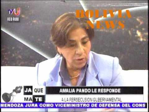 AMALIA PANDO LE RESPONDE AL VICEPRESIDENTE ÁLVARO GARCÍA LINERA