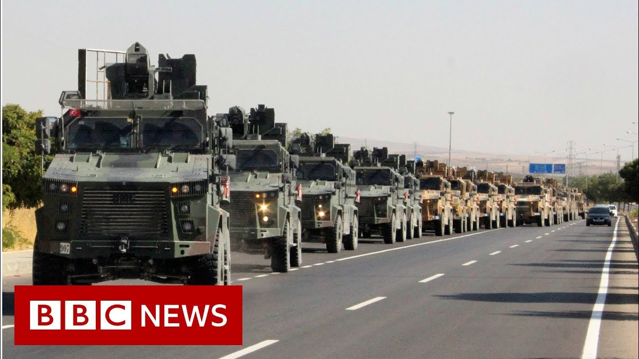 Turkey boosts troops to cross Syria border 'shortly' - BBC News