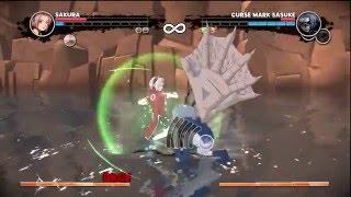 naruto broken bond sakura vs curse mark sasuke demon fox naruto