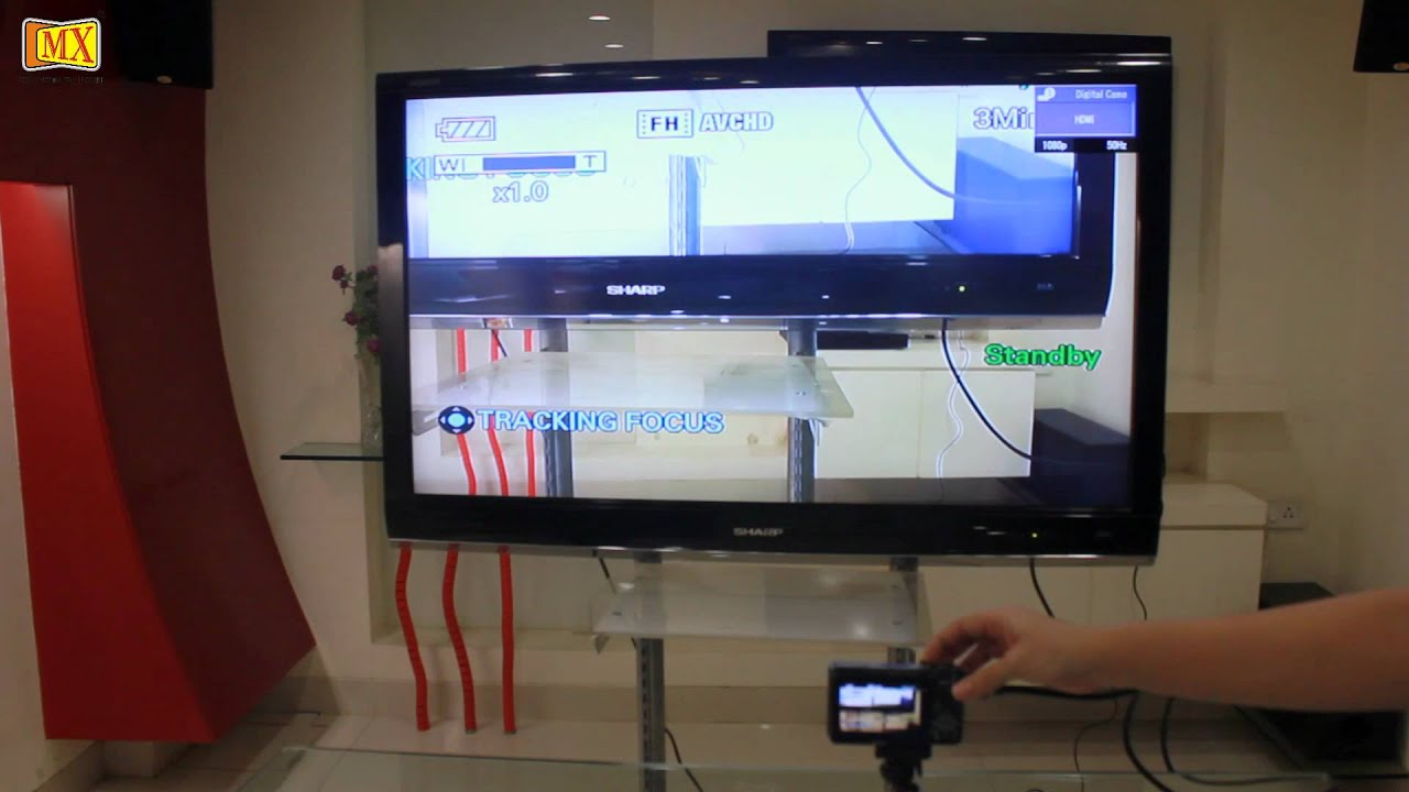 How to connect Sony Digital HX 7v / HX 9v Camera to the TV