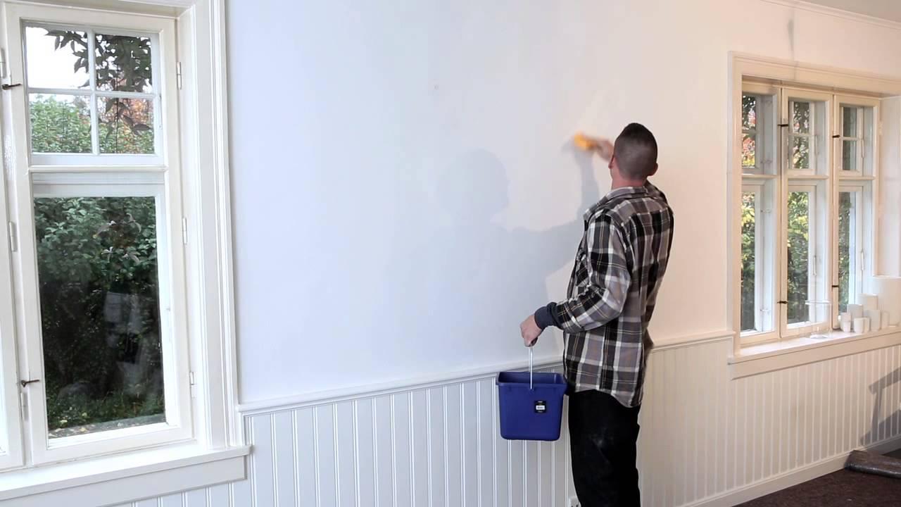 spackla putsad vägg