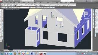Урок 27  Экстерьер ч 4 3D моделирование в AutoCAD 2014
