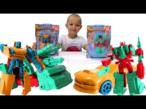Игры #Трансформеры: видео про #игрушки. Автоботы против Десептиконов! Роботы Машинки для мальчиков