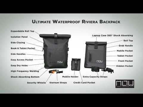 The Riviera - Best Waterproof Backpack - Live on Kickstarter NOW!