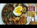 Asian Keto Noodles Recipe   Crispy Chicken Soba Bowl