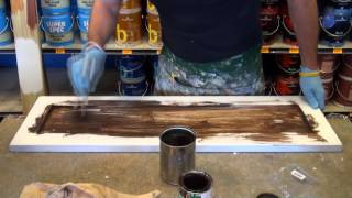 W J Andriots    How To Apply Antique Stain To Cabinets.