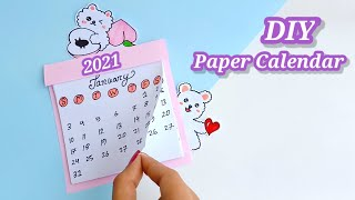 How to make a cute desk calendar | diy calendar | paper Mini calendar / paper crafts / #shorts