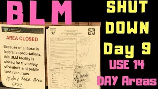 BLM SHUTDOWN DAY 9 ...LTVA IS  OPEN...BUT USE 14 DAY AREAS