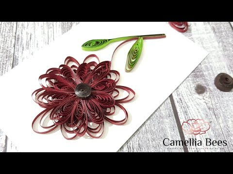 Quilling Paper Flowers Tutorial: Quilling flowers easy  for beginner