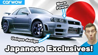 10 times the Japanese kept the best versions of their hot cars for themselves!