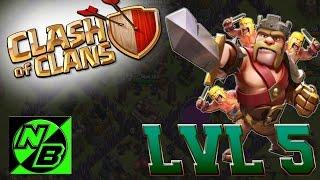 Ayuntamiento nivel 8 y Rey al nivel 5  Clash of clans   Farmeando oscuro