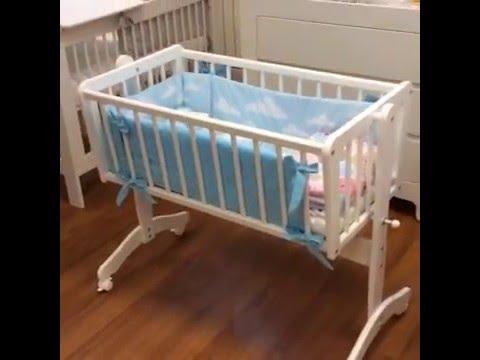 Кроватка детская 'Малютка с поперечным маятником + закрытый ящик .