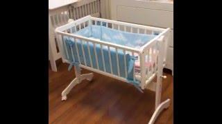 Люлька кроватка (колыбель) Maja 90х40см для новорожденных(Классическая кроватка люлька (колыбель) Maja 90х40см от Bellamy - для новорожденных от 0 до 6 месяцев - для спокойного..., 2015-12-20T06:24:43.000Z)