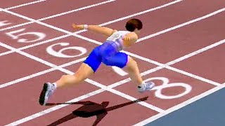 Virtua Athlete 2K (2000) N00b Character Playthrough (60 FPS) SEGA Dreamcast